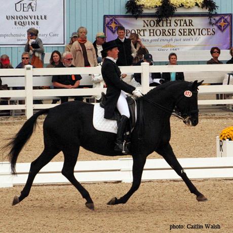 Mollie Bachner rides at Devon